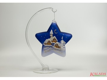 Závěsná dekorace, hvězda modrá