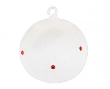 Vánoční koule perleťová, vločky jméno