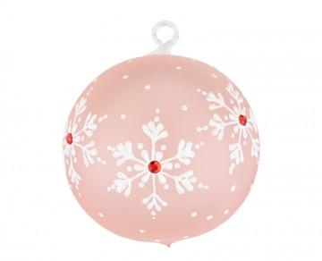 Vánoční koule pudrová, vločky jméno