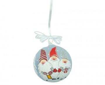 Vánoční koule šedá