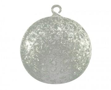Vánoční koule stříbrná, drátkovaná