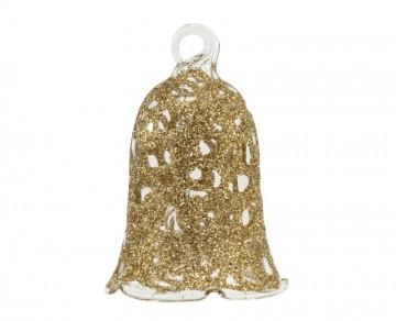 Vánoční zvonek tmavě zlatý, drátek