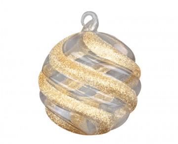 Vánoční koule zlatá tmavá, prolamované