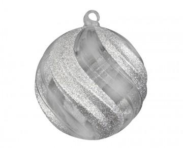 Vánoční koule perleťová, prolamované