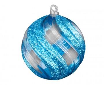 Vánoční koule tyrkysová tmavá, prolamované