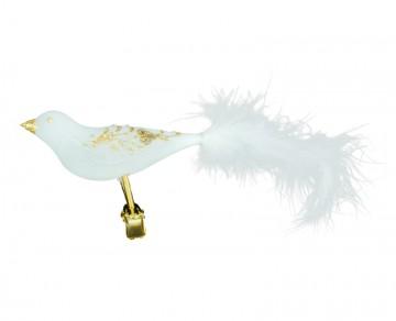 Skleněný ptáček, bílý
