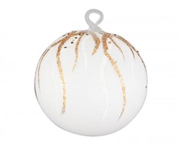 Vánoční koule zlatá tmavá, plamínek