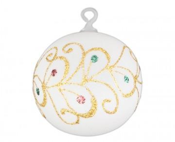 Vánoční koule perleťová, spirálka