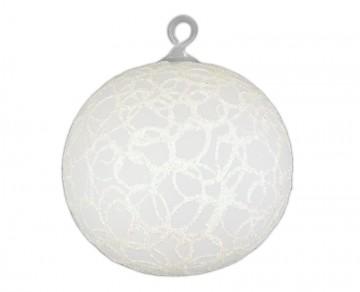 Vánoční koule perleťová, drátek