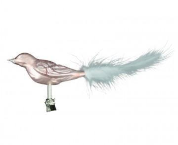 Skleněný ptáček, růžový