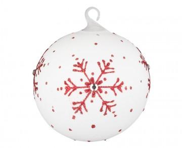 Vánoční koule perleťová, vločka