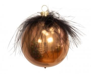 Vánoční koule měděná, peříčko