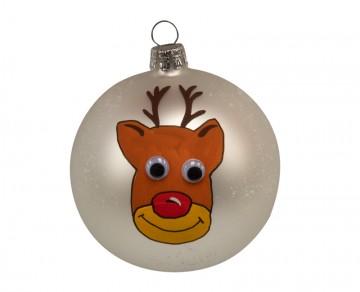 Vánoční koule perleťová, sob