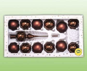 Sada vánočních ozdob, čokoládová