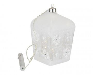 Skleněná LED lucerna, námraza