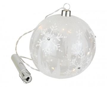 Skleněná LED koule, námraza