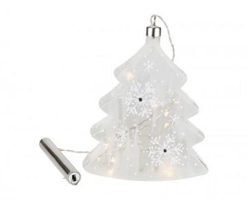 Skleněný LED stromek, námraza