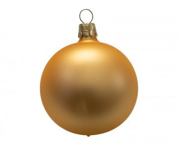 Vánoční koule tmavě zlatá, matná