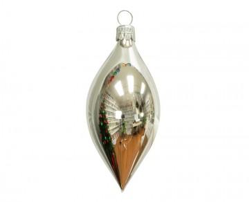 Vánoční oliva stříbrná, lesklá