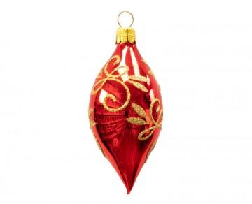Vánoční oliva červená, spirálka lístek