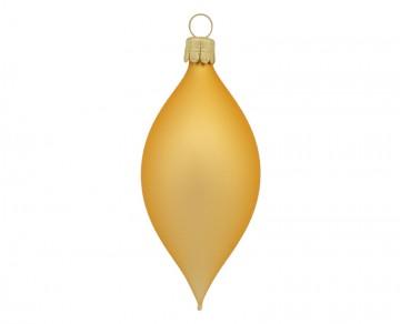 Vánoční oliva zlatá tmavá, matná