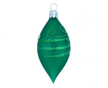 Vánoční oliva zelená tmavá, spirálka
