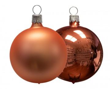 Vánoční koule meruňková, matná a lesklá