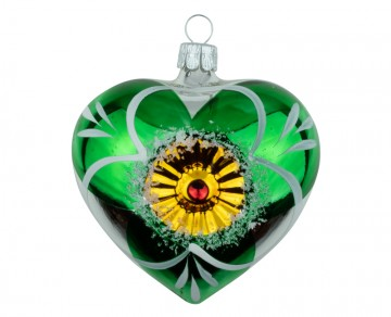 Vánoční srdce stříbrné, květ