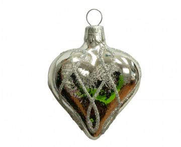 Vánoční srdce stříbrné, čáry