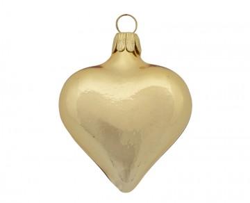 Vánoční srdce světle zlaté, lesklé