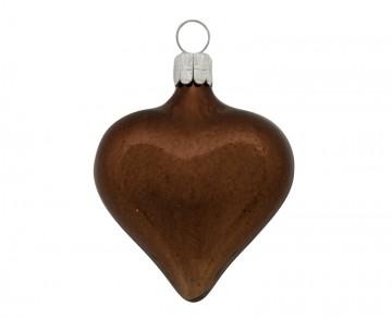 Vánoční srdce čokoládové, lesklé