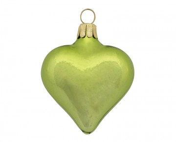 Vánoční srdce olivové, lesklé