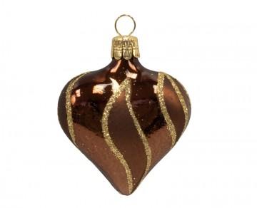 Vánoční srdce čokoládové, plameny