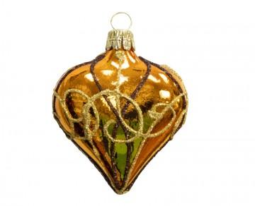 Vánoční srdce karamelové, spirálka