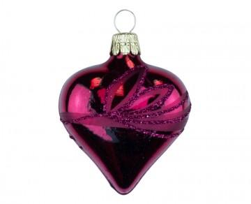 Vánoční srdce vínové, lístky