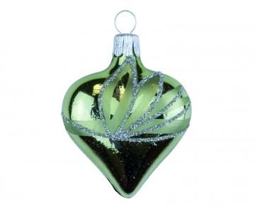 Vánoční srdce olivové, lístky