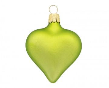 Vánoční srdce olivové, matné