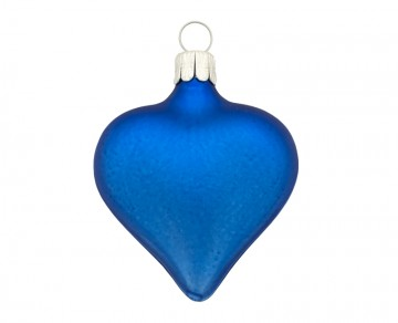 Vánoční srdce tmavě modré, matná