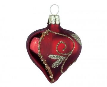 Vánoční srdce vínové, spirálka lístek