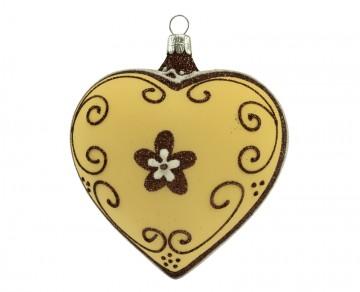 Vánoční srdce vanilka, perník
