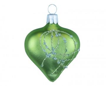 Vánoční srdce olivové, perličky