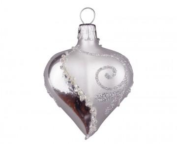 Vánoční srdce perleťové, spirálka lístek