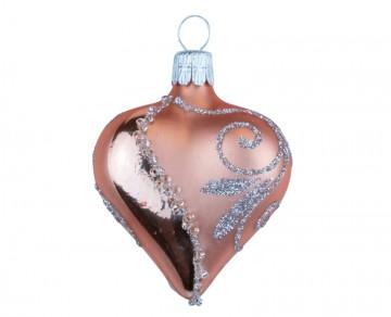 Vánoční srdce meruňkové světlé, spirálka lístek