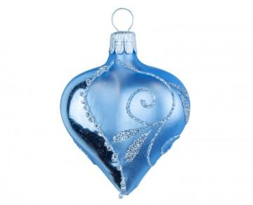 Vánoční srdce bleděmodré, spirálka lístek