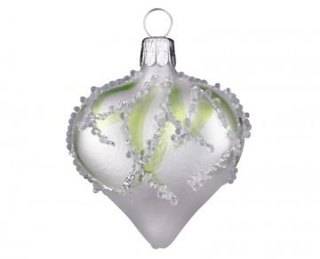 Vánoční srdce perleťové, plamínek