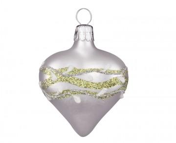 Vánoční srdce perleťové, jmelí