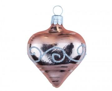 Vánoční srdce meruňková světlá, spirálka