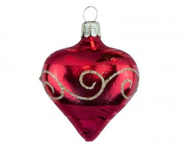 Vánoční srdce červené, spirálka