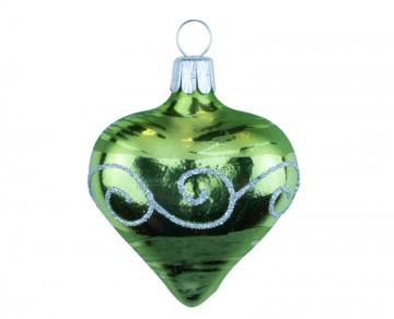 Vánoční srdce olivové, spirálka