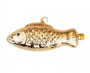 Skleněné zvířátko ryba, světle zlatá